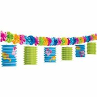 Amscan International Lantern Garland Fun In The Sun Hawaiian 3.65 metre