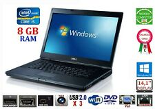 COMPUTER PORTATILE DELL E6410 CPU INTEL CORE i 5 560 8 GB RAM WEBCAM WINDOWS 10