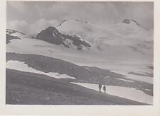 PHOTOGRAPHIE ANCIENNE-1907-CHASSEURS ALPINS/MONTAGNE-GLACIER DES FOURS/