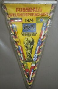 RARE West Germany Munich World Cup 1974 All Teams Football Pennant