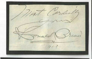 Donald Brian Signed Slip 1913 / Autographed Actor The Merry Widow
