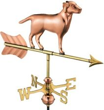 Weathervane Pure Copper Labrador Retriever Design with All-Weather Roof Mount