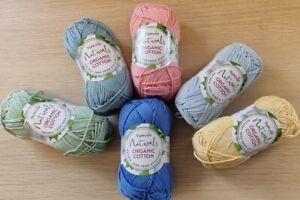 Stylecraft Naturals-Organic Cotton - DK 50g balls 100% vegan cotton Knit Crochet
