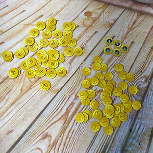 Monopoly Gamer MarioKart Replacement Parts Coin Set (40) 5s (50) 1s (5) Bananas