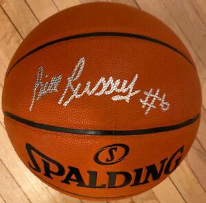 Bill Russell #6 Autographed Celtics NBA Spalding I/O Basketball PSA Letter COA
