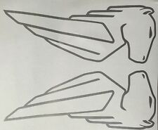 Buell EBR Pegasus Decals. 1 Pair. Silver outline. Or choose your color.