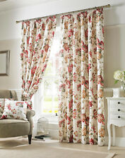 Ashley Wilde Carnaby Chintz Ready Made Pencil Pleat Fabric Curtains 46 x 54""