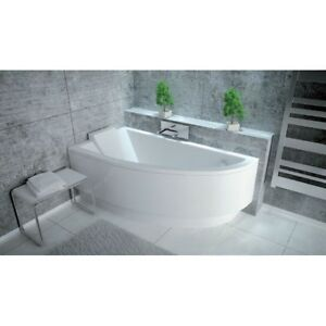 Offset Corner Bath *PRAKTIKA* SPACE SAVER 1400 x 700mm 140 X 70 Bathtub HEADREST