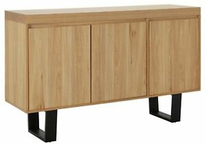 Home Berlin 3 Door Sideboard - Oak Effect