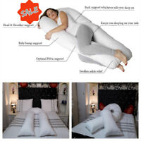 Extra Fill 12ft COMFORT U PILLOW 12 Ft Pregnancy Pillow Back Support Maternity