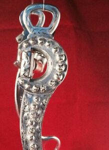 Makers Marked Hand Engraved Vogt Silver Show Bit. Correction mouth/New!/No Res