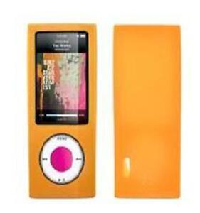 Orange soft feel Silicon Case for Ipod Nano 5 5G