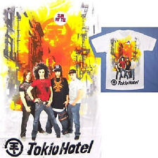 TOKIO HOTEL BURNING CITY WHITE T-SHIRT KIDS YOUTH LARGE NEW OFFICIAL