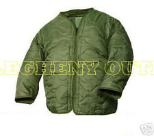 FIELD JACKET COAT LINER USMC US ARMY,MILITARY M-65 QUILTED OD Green MEDIUM MINT