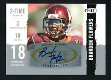 Brandon Flowers 2008 HIT Sage Football signed autograph auto Trading Card