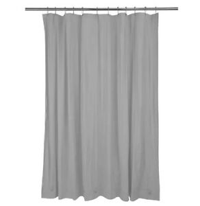 NEW SOLID WATER REPELLENT BATHROOM SHOWER CURTAIN LINER CLEAR ALL COLORS