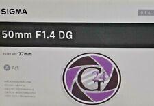 SIGMA ART 50mm f1.4 DG per Nikon - 12 MESI DI GARANZIA-IVA (VAT)