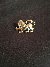 Brass Lion Lapel Pin Tie Tac, Crown Lion King