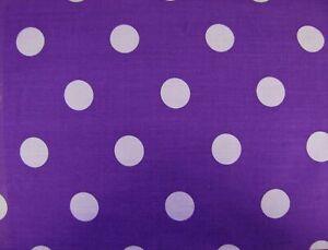 Purple White Polka Dot / Spot Polycotton Fabric 114 cm width  free p&p