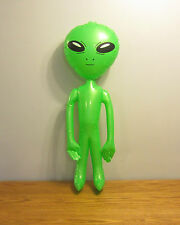 "2 NEW INFLATABLE GREEN ALIENS 36"" BLOW UP INFLATE ALIEN HALLOWEEN PROP GAG GIFT"