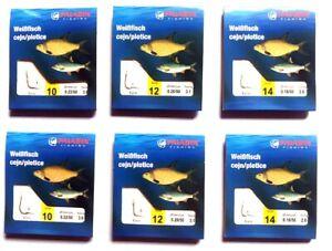 6 x Vorfachhaken Hakenbriefchen Weißfisch verschiedene Größen Angelhaken