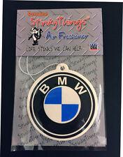 BMW CAR AIR FRESHENER * VANILLA  * sticker boost shirt 3 5 7 series interior