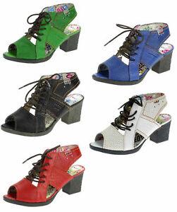 TMA Damen Sandalen Leder Sommer Damenschuhe Sandalette Freizeit Schuhe 10304