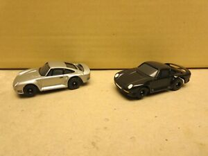 2 TOMY AFX SRT RACEMASTERS PORSCHE 959s BLACK/SILVER RARELY SOLD AS A SET, NEW!