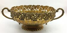 Vintage Andrea By Sadek Grape Clusters & Vines Brass Bowl Large 12""