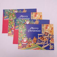 Vtg Beacon Hill Sloane Santa Christmas Cards Lot of 2 Printed in West Germany