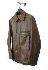 Original Prada Leather Brown Men Jacket in size 50