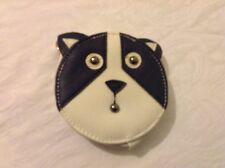 Cat Face Coin Purse, Black And White, New!