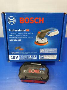 Bosch 18v Brushless Sander GEX18-125 + 8AH Battery 125mm - New