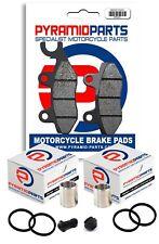 Full Front Brake Caliper Piston Kit & Pads for Honda XL125 V Varadero 2001-2010