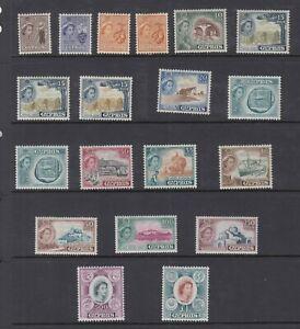 CYPRUS QE II DEFINTIVES ISSUE 168-82 SC 173-87 PLUS VARIETIES