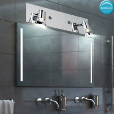 Chrome wall light bath room spotlights mirror lighting spots swiveling modern