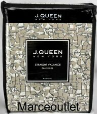 J. Queen New York Cracked Ice Two Valances Silver Gray