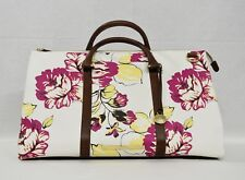 NWT Brahmin Anywhere Weekender Bag in Dahlia Bouquet Flowery Print on Canvas