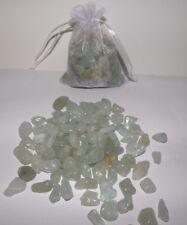 Aquamarine Beautiful Tumbled Crystals 200 gram Bag  FREE POSTAGE