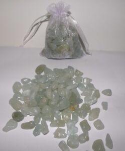 Aquamarine Beautiful Tumbled Crystals 150** gram Bag  FREE POSTAGE