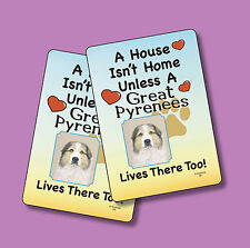 """""""Great Pyrenees"""" A House Isn't Home - A Pair Of Dog Lover Cards - Sku# 58"""