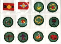 Vintage 1960's 1970's Girl Scout Badge 12 Piece Lot