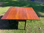 Antique Mahogany Hepplewhite Style Drop Leaf Table,4 legs, 2 are swivel Gate Leg