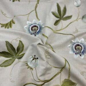 Sanderson Passion Vine Sage Curtain Fabric, Material 128cm width