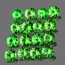 1.60MM 45PCS ROUND DIAMOND CUT CHROME GREEN TSAVORITE GARNET NATURAL {IF-VVS1}