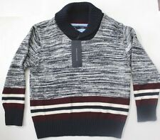 Tommy Hilfiger Boys Sweater Knit Pullover Shawl Collar Sz 6 NWT Multicolors