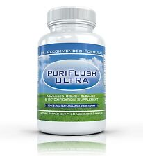 PURIFLUSH ULTRA - All Natural Complete Colon Cleanse Bowel Cleansing Supplement