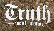 Truth Soul Armour Sticker - Surf Skate Waves Surfing Faith