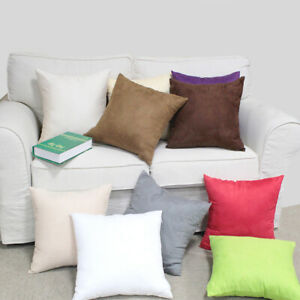 21 Colors Plain Solid Soft Smooth Polyester Deco Cushion Cover Throw Pillow Case
