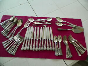 "70 PC GORHAM STERLING SILVER FLATWARE SET ""BUTTERCUP 1899"""